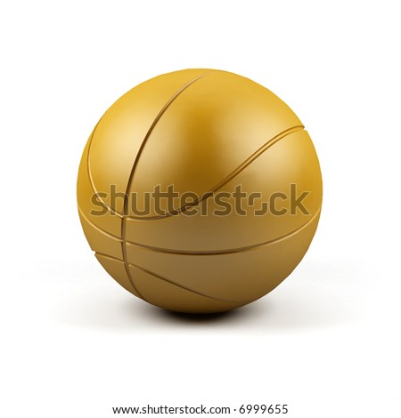 A 3d render of a basketball on white background