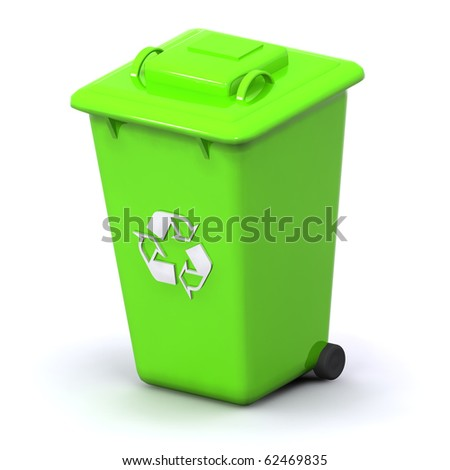A 3d Rendered Recycle Bin Illustration