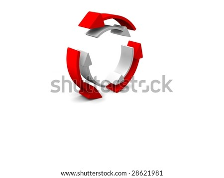 a 3d Symbol on a white screen