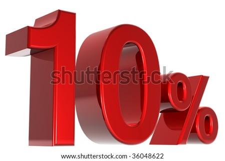 A 3d ten percent concept - stock photo