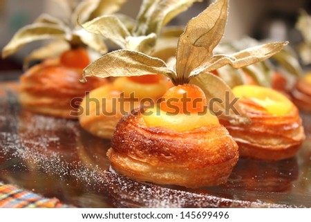 A Danish bakery products from a bakery - stock photo