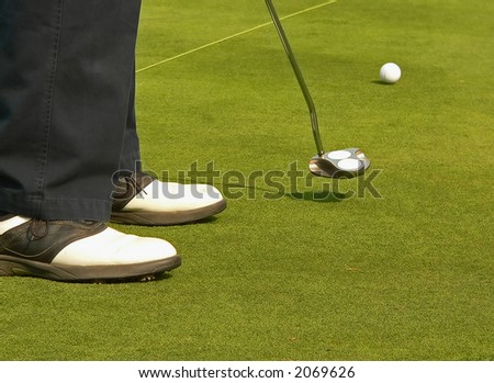 A Day at the Golf Course - stock photo