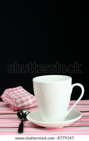 A decorative table set for a coffee break - stock photo