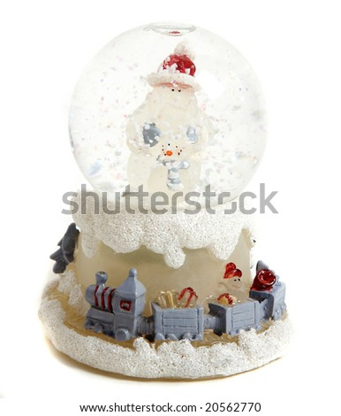 A decorative xmas snowball - stock photo
