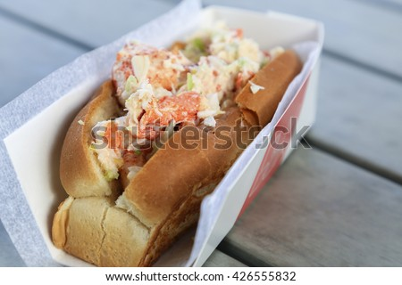 A delicious Lobster Roll for lunch - stock photo