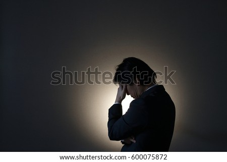 A depressed businessman
