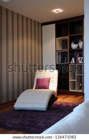 A detail of a contemporary living room - stock photo