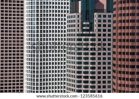 A detail of a modern high buildings in Los Angeles - stock photo