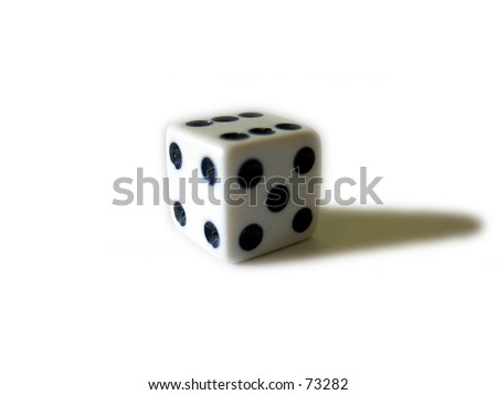 A Dice - stock photo