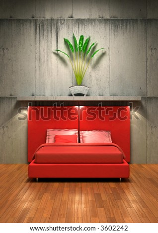 A different and unusual interior design concept - stock photo