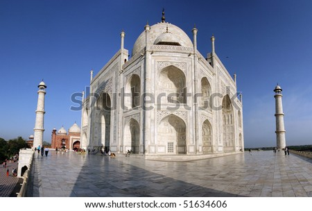 A different look at The beautiful Taj Mahal, Agra, India - stock photo
