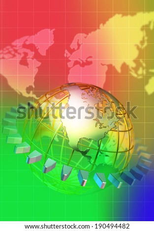 A different look at the world - stock photo
