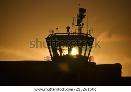 A dispatch the international airport - stock photo