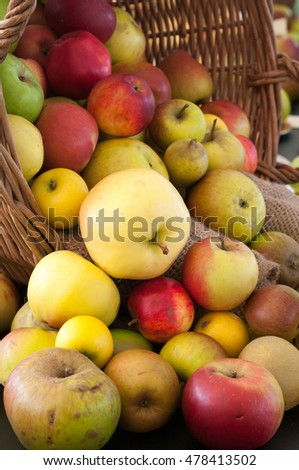 A display of price winning apples