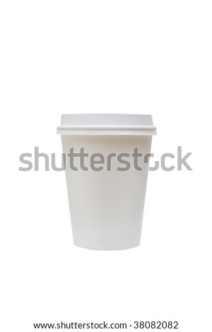 A disposable coffee cup - stock photo