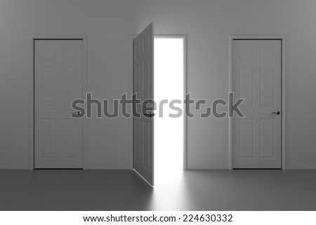 A doorway to the Light - stock photo