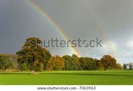 A double rainbow caught on a November afternoon in Norfolk.
