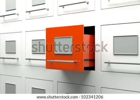 a drawer cabinets as a background - stock photo