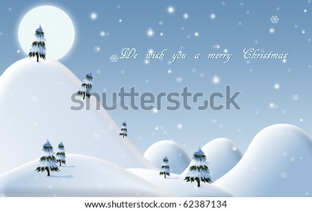 A drawn background for a Christmas card - stock photo