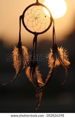 Dream Catcher In The Sun Dream Catcher Against Rising Sun Stock Photo 40 Shutterstock 12