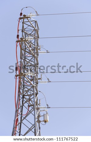 A electrical tower of high voltage