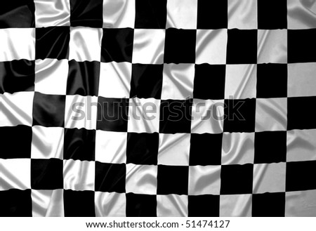 A F1 flag with checkered pattern. - stock photo