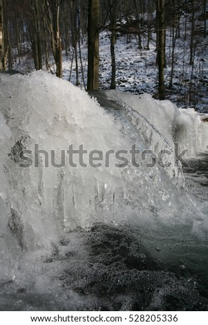 a fabulous view of the frozen winter stream