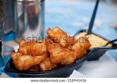 A famous food from Netherlands deep fried fish - stock photo