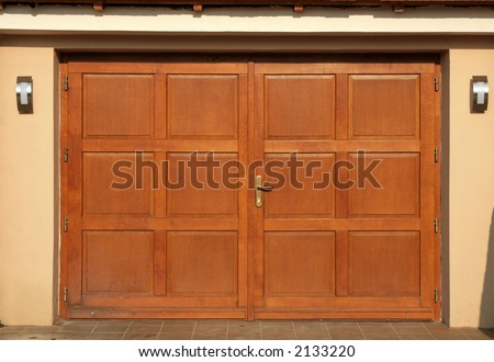 A fancy new garage door