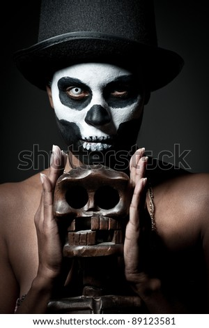 Voodoo girl Stock Photos  Illustrations  and Vector ArtVoodoo Skull Face Paint