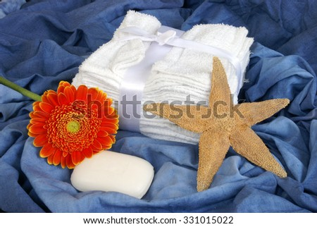 A few washroom items for good cleanliness. - stock photo