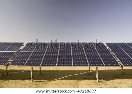 A field of solar arrays in Southern New Jersey