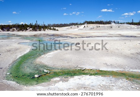 A field of volcanic lava, Yellowstone National Park - stock photo