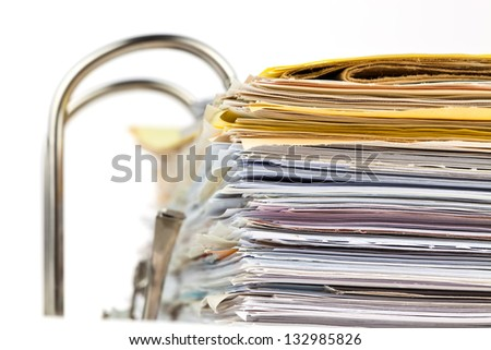 a file folder with documents and documents. storage contracts. - stock photo