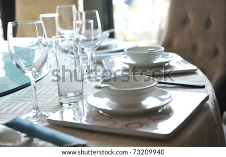 A fine dinner table in China. - stock photo