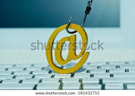 Fish Hook Email Sign On Computer Stock Photo Edit Now Shutterstock