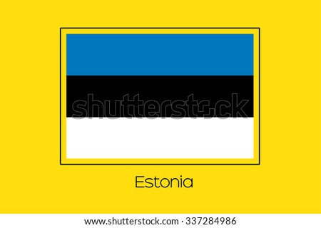 A Flag Illustration of the country of Estonia - stock photo