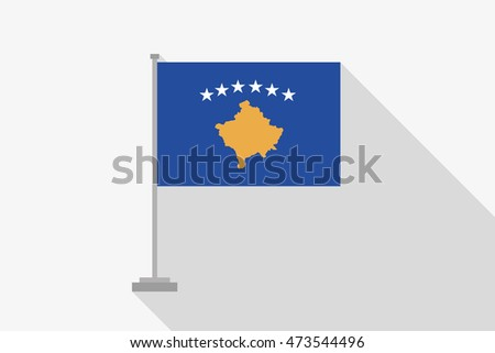 A Flag Illustration of the country of Kosovo