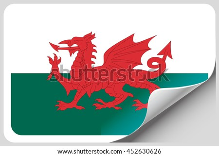 A Flag Illustration of the country of Wales - stock photo