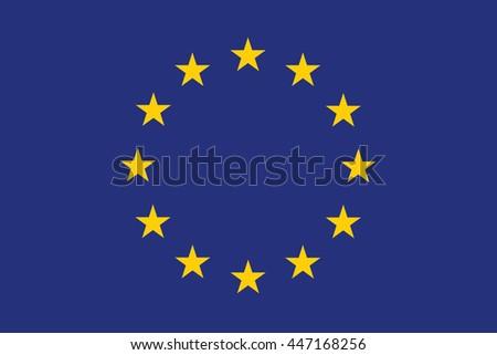 A Flag Illustration of the EU - stock photo