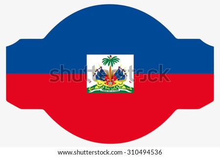 A Flag Illustration within a Sign of the country of  Haiti