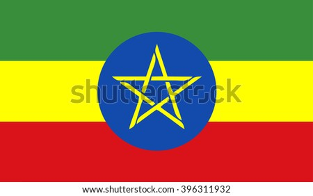 A flag of Ethiopia