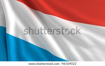 A flag of Luxemburg in the wind