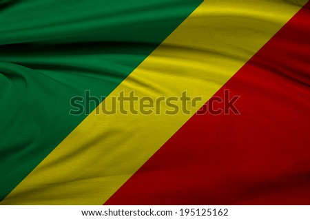 A flag of Republic of the Congo in the wind  - stock photo