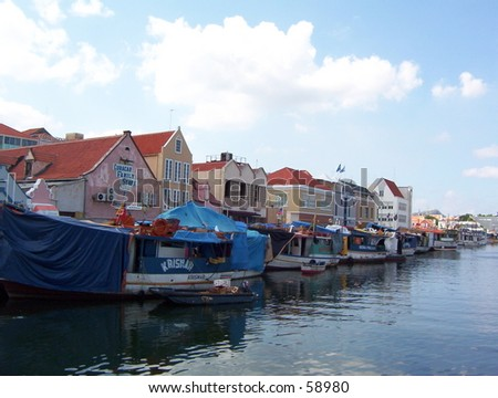 A Floating Market in Curacao