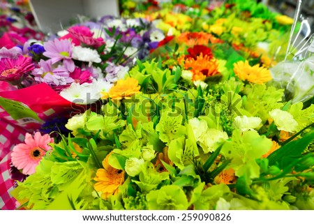 Beautiful different flowers stock images royalty free for A lot of different flowers make a bouquet