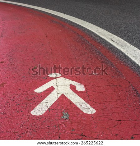 A footpath takes a dangerous curve - stock photo