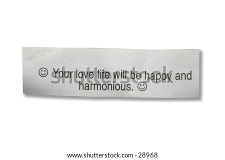 A fortune cookie - stock photo