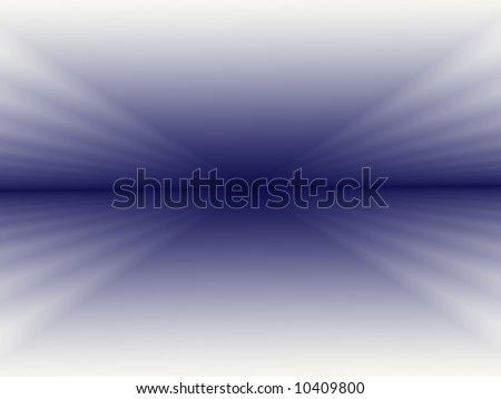 A fractal background with a distinct horizon line in dark blue and graduating through lighter shades of blue until it ends with white at the edges. - stock photo