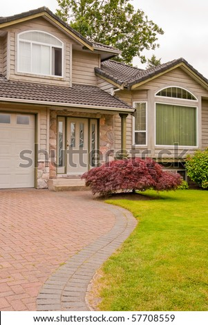 A fragment of a nice house in Vancouver, Canada. - stock photo